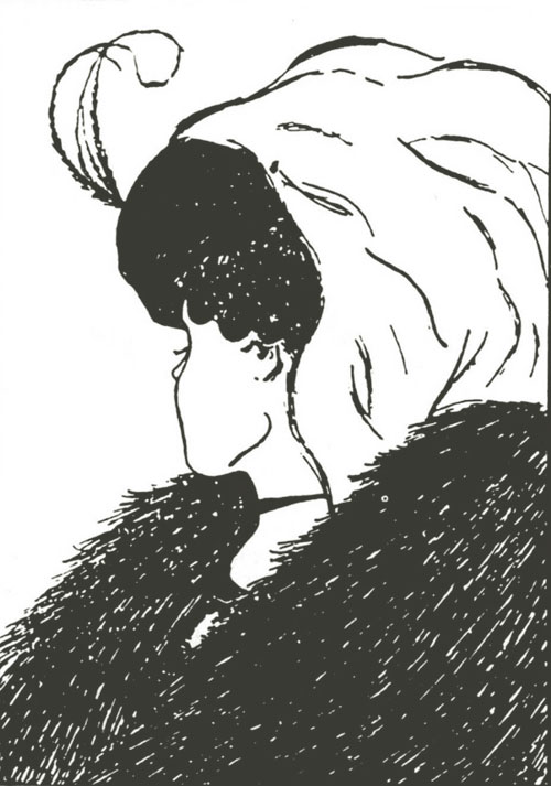 A drawing of a young woman or an old woman depending on your perspective